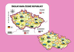 Školní papírová mapa ČR - šablona